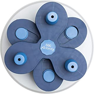 Flower Tower Dog Activity, Strategy Game, Level 3, Treat Dispensing, White with Blue