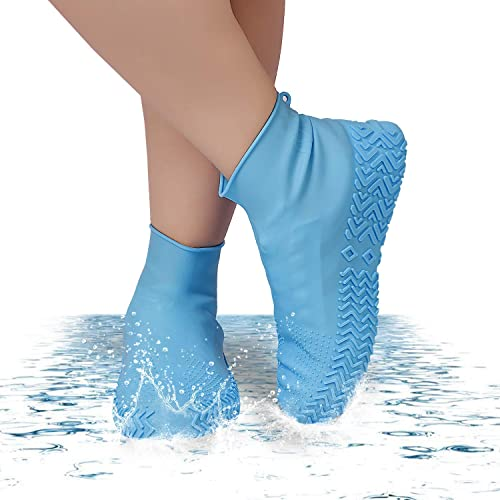 DIXIMO Reusable Silicone Boot and Shoe Covers Waterproof Rain Socks Silicone Rubber Shoe Protectors for Indoor and Outdoor Protection Medium Size