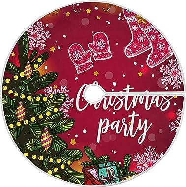 XiangHeFu Jupe d'arbre de Noël pour la décoration de Vacances de Noël de fête 35,4 Pouces / 90 cm, Sac-Cadeau de Flocon d