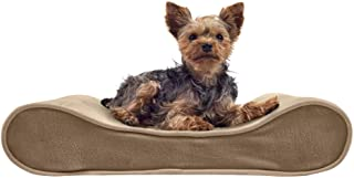 FurHaven Pet Dog Bed   Orthopedic Microvelvet Luxe Lounger Pet Bed for Dogs & Cats, Clay, Small
