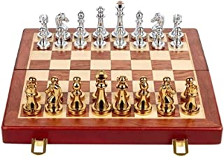 Mmsh Chess Game Set, Chess Computer -Chess Set Folding Magnetic Plastic Board Game Portable Children's ToysChessmen Collec...