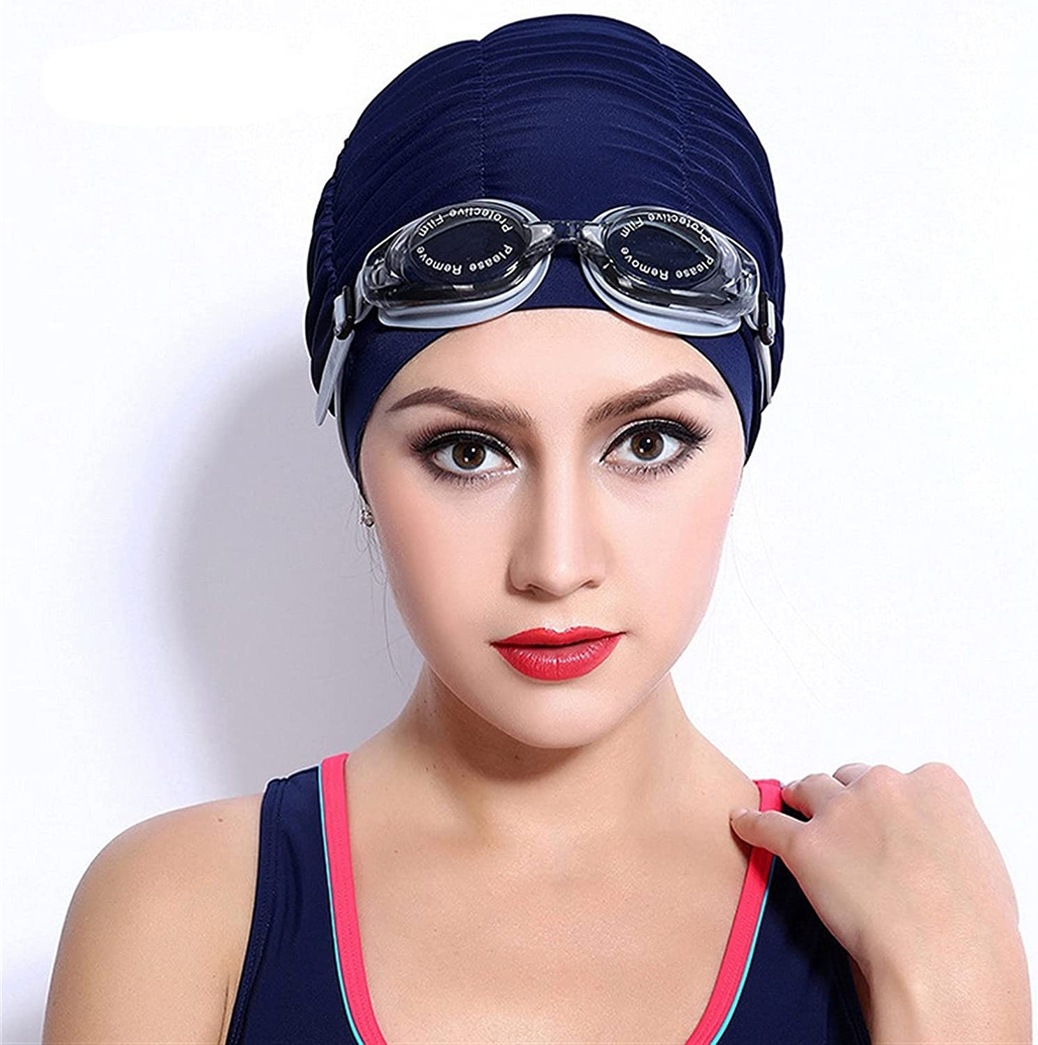 Double Material High Stretchy Pleated Swimming Pool Hat Max 65% OFF Mail order cheap Women Lo