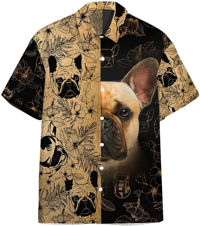 Dog Unique Design Hawaiian Shirts for Men - Button Down Mens Hawaiian Shirts Short Sleeve Series 96