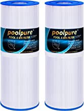 POOLPURE Spa Filter for Hot Tubs Replaces Pleatco PRB25-IN Unicel C-4326 FC-2375, 25 sq ft, Pentair R173434, Waterway 817-5000, Dynamic RDC-25, 5 x 13 Spa Filter, 2 Cartridge
