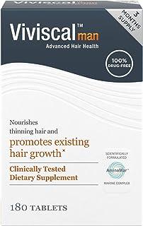 Viviscal Man Maximum Strength Hair Nourishment System, 3 month supply, 180 Tablets