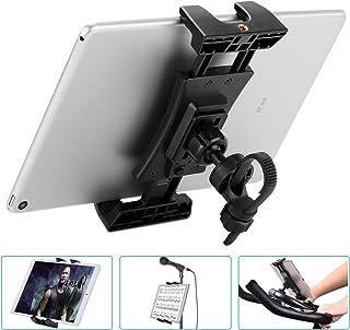 Bike Tablet Holder, Portable Bicycle Car Phone Tablet Mount for Indoor Gym Treadmill, Microphone Stands, Microphone Tablet Holder, Exercise Bike for iPad, iPad Pro, iPad Mini, 2, 3, iPad Air, iPhone