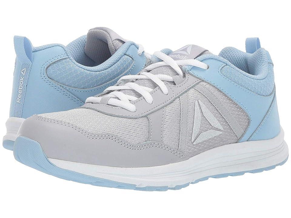 Reebok Kids Almotio 4.0 (Little Kid/Big Kid) (Grey/Blue/White) Girls Shoes