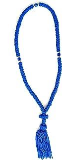 Handmade Blessed Christian Orthodox Greek Komboskoini Prayer Rope 100knots Pentant Blue2