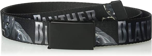 Buckle-Down Men's Web Belt Black Panther 1.25