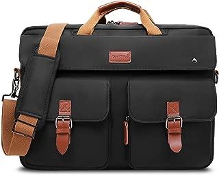 CoolBELL Convertible Messenger Bag Backpack Laptop Shoulder Bag Business Briefcase Leisure Handbag Multi-Functional Travel Bag Fits 17.3 Inch Laptop for Men/Women/College (Black)