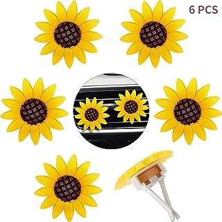 6 قطعه آفتابگردان اتومبیل تازه کننده هوا کلیپ های هوا تهویه هوا تزئینات اتومبیل برای لوازم جانبی اتومبیل (سبک 1)