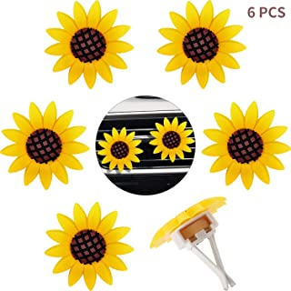 6 Pieces Car Air Freshener Sunflower car Accessories Sunflower Air Vent Clips Cute Car Air Freshener Sunflowers Gift Decorations Girasoles Car Clip Interior Air Vent Decorations