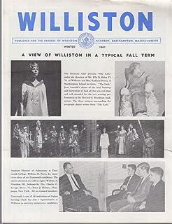 WILLISTON Academy Newsletter Winter 1961 Typical Fall Term View Soccer Football