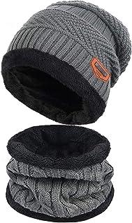 MFIIDEN قبعة الشتاء ، دافئة متماسكة قبعة سميكة الصوف مبطن قبعة الشتاء للرجال النساء