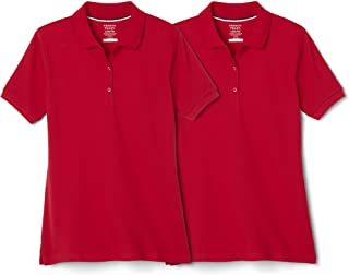 French Toast Girls SA9403K Short Sleeve Stretch Pique Polo - 2 Pack Short-Sleeve School Uniform Polo Shirt