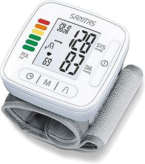 Sanitas SBC 22 Handgelenk-Blutdruckmessgerät vollautomatische Blutdruck- und Pulsmessung, Warnfunktion bei möglichen Herzrhythmusstörungen