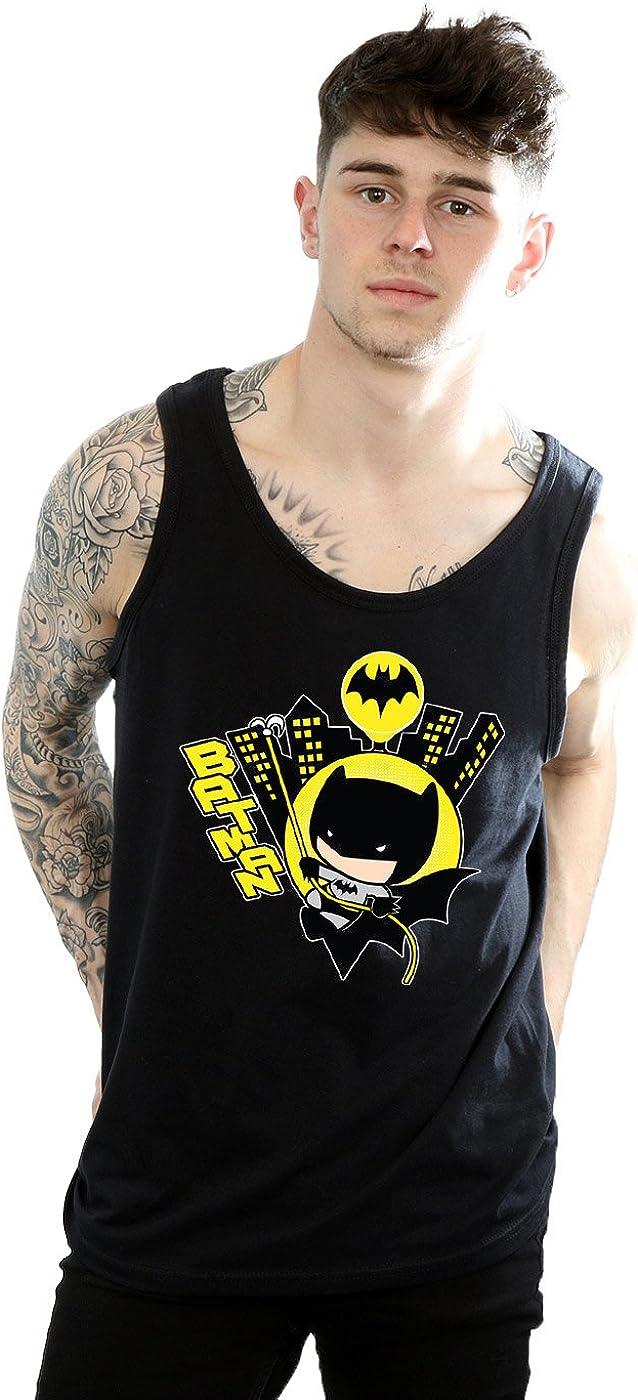 DC Comics Men's Chibi Batman Swinging Tank Top