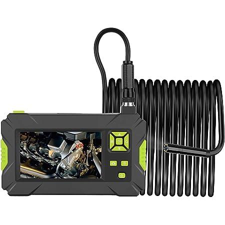 Kkmoon Endoskop Handheld Industrie Endoskopkamera 4 3 Zoll High Definition Inspektionskamera 1080p Bildschirm Ip67 Wasserdicht Mit 8 Led Licht Grün Baumarkt