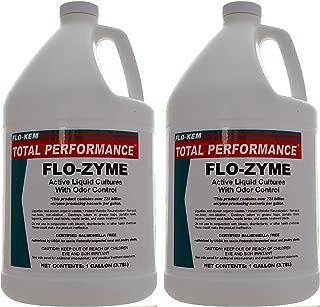 Flo-Kem 5195 Flo-Zyme Commercial Bio-Enzyme Drain Opener/Deoderizer with Pleasant Scent, 1 Gallon Bottle, Milky White (Тwо Расk)