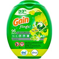 96-Count Gain flings! Laundry Detergent Pacs Plus Aroma Boost