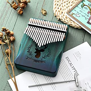 $35 » Kalimba Thumb Piano 21 Keys SEAAN, Portable Mbira Finger Piano w/Protective Case, Fast to Learn Songbook, Tuning Hammer, A...