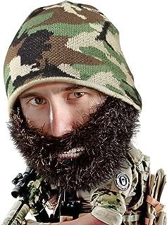 Beard Head Bushy Duke Beard Beanie - Camouflage Hat and Fake Beard Facemask
