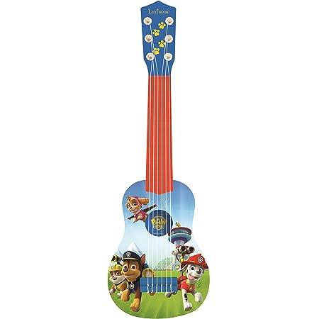 Lexibook K200PA Ma Première Guitare Paw Patrol La Pat'Patrouille Chase, 6 cordes, possibilité d'accorder, guide d'utilisation, Bleu/Orange.