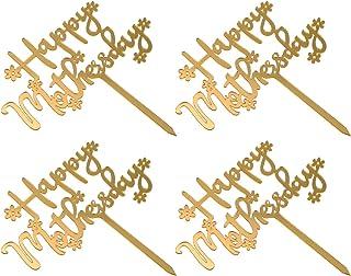 STOBOK Happy Mothers Day Cake Topper, 10 Pcs Mom Birthday Cake Topper Mothers Day Cake Toppers Letter Cake Decoration Part...