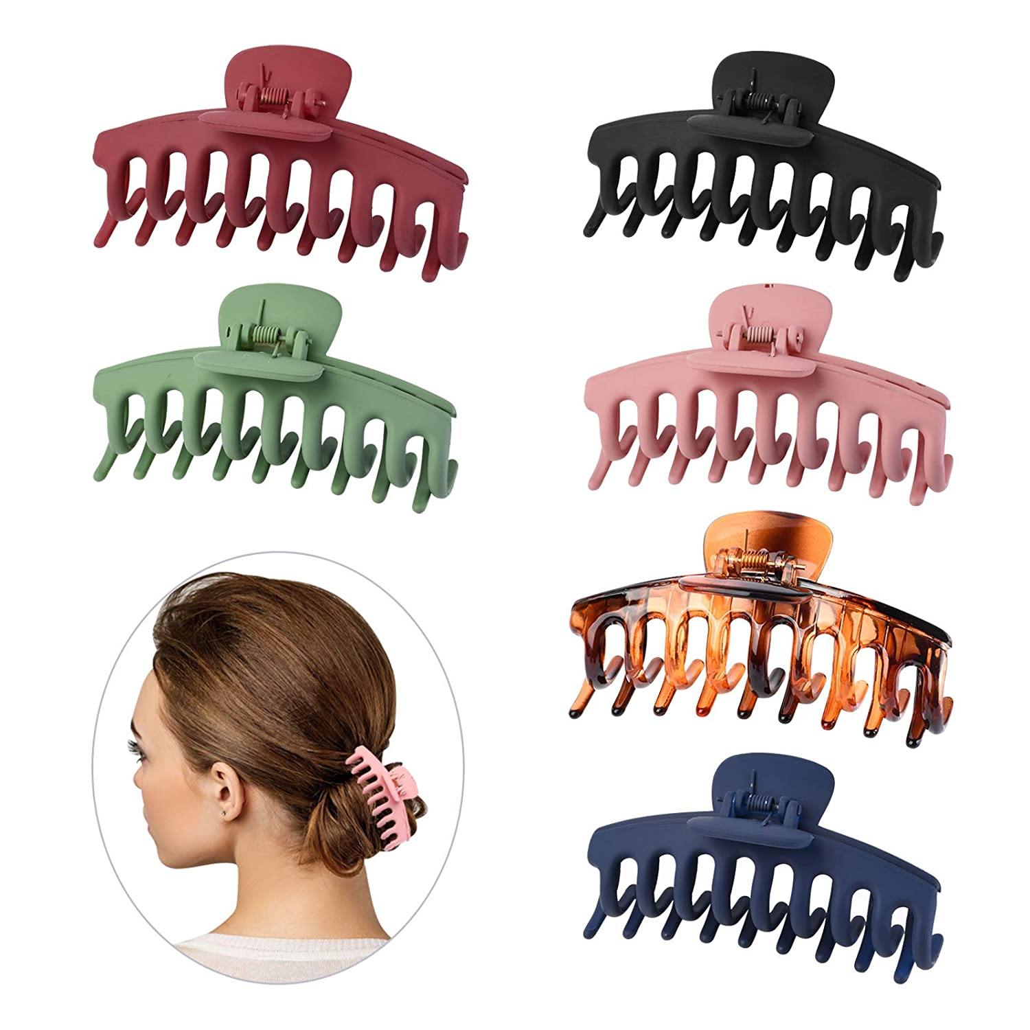 6PCS 67% OFF of fixed price 4.3Inch Big Hair Now free shipping Claw Clips Plastic Jaw PS Nonslip f