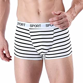 12eb6f9c121a Ximandi Men's Stretch Underwear, Striped Soft Knickers Shorts Underpants