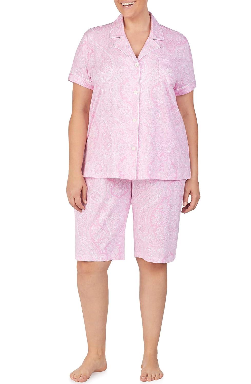 [ラルフローレン] レディース ナイトウェア Lauren Ralph Lauren Bermuda Pajamas (Plu [並行輸入品]