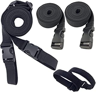 Utility Straps with Quick Release Buckle Adjustable Wagon Securing Straps 98 inch Packing Solution Kit Backpack Sleeping Bag Accessories Luggage Lash Strap 5 Pcs
