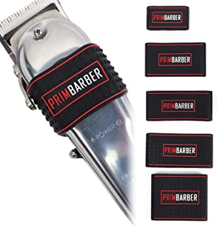 Professional Barber Clipper Grip 5 pcs, Non Slip Barber Clipper bands, Heat Resistance Barber sleeve for Hair clipper, Bar...