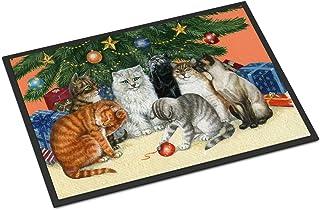 Caroline's Treasures BDBA0345MAT Cats Under The Christmas Tree Indoor or Outdoor Mat 18x27, 18H X 27W, Multicolor