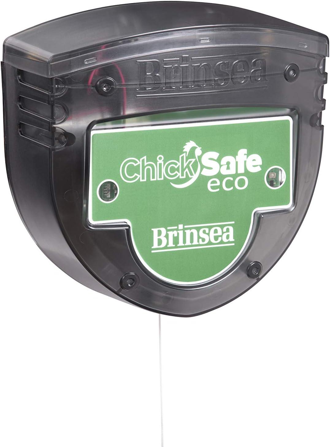Brinsea ChickSafe Eco - Abridor automático para puerta de gallinero, color verde