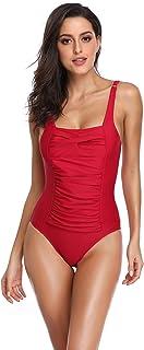 bañador señora de una pieza brasileña comodo oferta barato Todo de Rojo