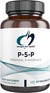 Designs for Health P-5-P - 50mg Vitamin B6 (P5P Pyridoxal-5-Phosphate) Supplement - Non-GMO + Gluten Free B-6 (120 Capsules)
