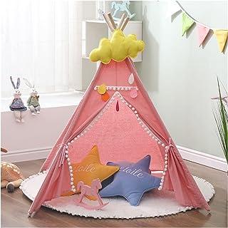 YSJJWDV Teepee tält 1,32 m bärbart barntält Tipi indiskt tält för barn stora baby spielhaus utomhus campinghus barn Tipi s...
