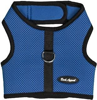 Bark Appeal BBWNG-M Wrap N Go Mesh Cloth Hook & Eye Harness44; Blue - Medium