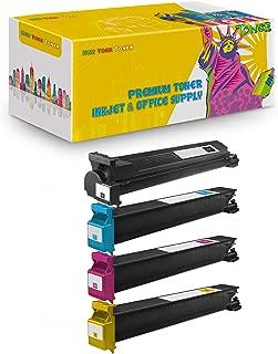 New York TonerTM New Compatible 4 Pack TN213K TN213C TN213M TN213Y High Yield Toner for Konica-Minolta : BizHub C200 | C203 | C253 | C353. --Black Cyan Magenta Yellow