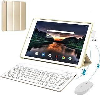 Tablet 10 Pulgadas 4G Full HD 3GB RAM 32GB ROM/128GB Dual SIM Dual Cámara 8500mAh BateríaTablet PC Android 9.0 Quad-Core Tablet WiFi/Bluetooth/GPS/OTG(Oro)