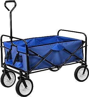 comprar comparacion TecTake Carro de Mano Plegable y abatible Carrito de Transporte | Carga 80kg (Azul | no. 402595)