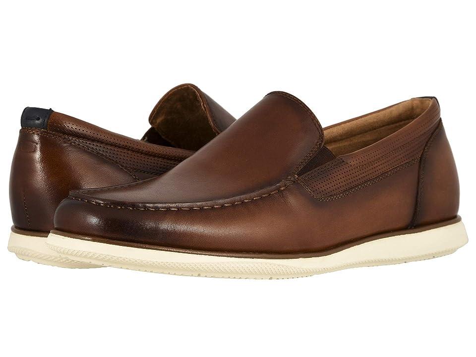 07f37c6e8870 Florsheim Atlantic Moc Toe Venetian Slip-On (Cognac Smooth w  White Sole)  Men s Shoes