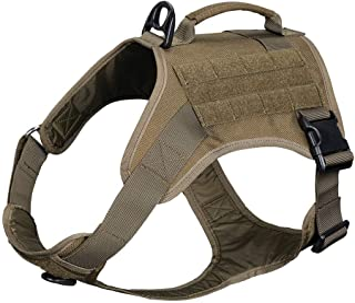 EXCELLENT ELITE SPANKER Tactical Dog Harness Vest with Handle Military Dog Harness Adjustable Training Harness No Pull Dog...