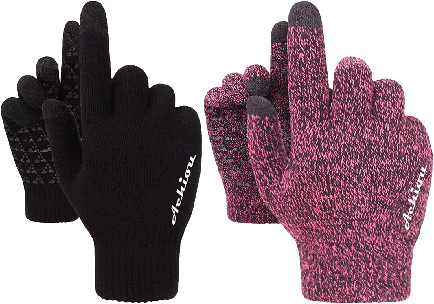Achiou Direct sale of manufacturer Winter Gloves Classic Thick Combination Upgraded and Genuine