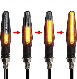 4pcs Motorrad LED Blinker fließende wasserdichte Anzeige Bernstein Licht
