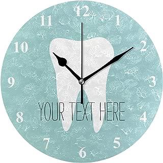 MIKA歯 歯科医 オフィス 掛け時計 おしゃれ 連続秒針 静音 壁掛け時計 部屋 北欧 インテリア 掛時計 玄関25cm