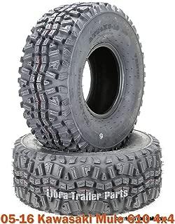 (2) 24x9-10 ATV Front Tire Set for 05-16 Kawasaki Mule 610 4x4