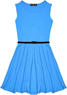 Girls Skater Dress Kids New Party Summer Dance Dresses Ages 7 8 9 10 11 12 13 Years