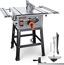 Table Saw, TACKLIFE, 15A 10-Inch, 4800RPM, 25.3''x 28.3'' Extension Table saw,Cutting Capacity : 2-4/5'' at 90° and 2'' at...